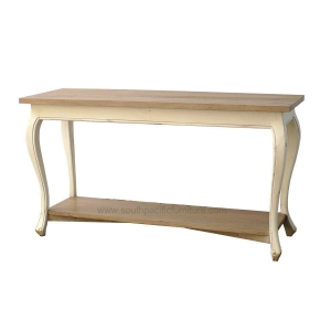 queen ann console table w