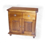 Asian oak buffet 2 Drw 2 Dr