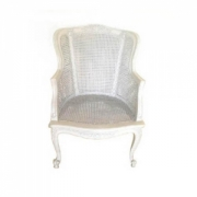 French wing chair white