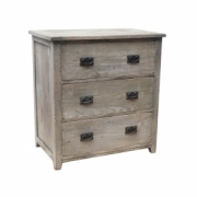 Rustic mango chest 3 drawers