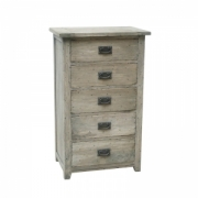 Rustic mango chest 5 drawers