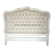 Shabby Chic Headboard UPH button Queen