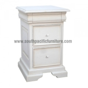Shabby chic Sleigh bedside 3 Drawers