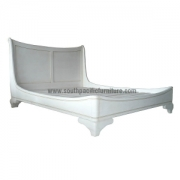 Shabby chic sleigh Loire bed