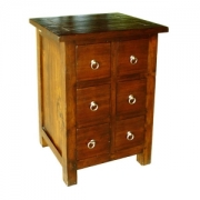 Teak antique 6 drw chest