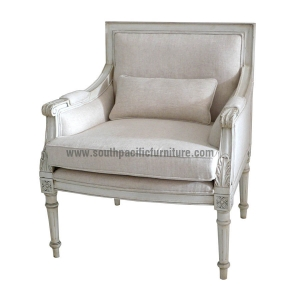 Superieur White Shabby Chic French Lounge Chair